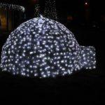 christmas dome lights outside