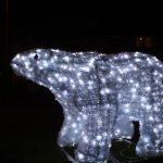 christmas polar bear light