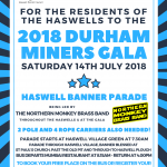 2018 Durham Miners Gala